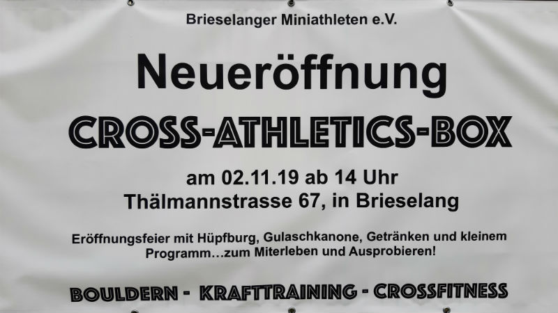 Neueröffung Cross-Athletics-Box
